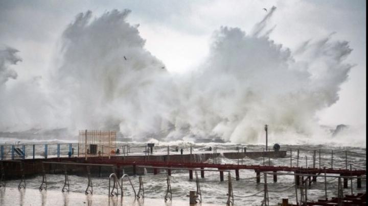 Видео: Двое мужчин искупались во время бушующего урагана «Офелия»