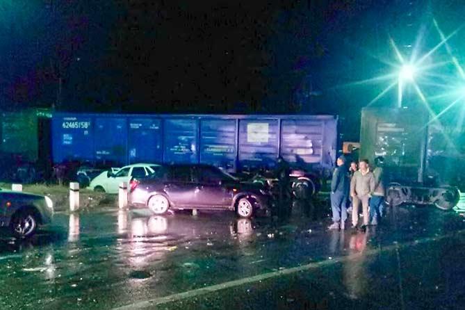 07-10-2017: ДТП на железнодорожном переезде