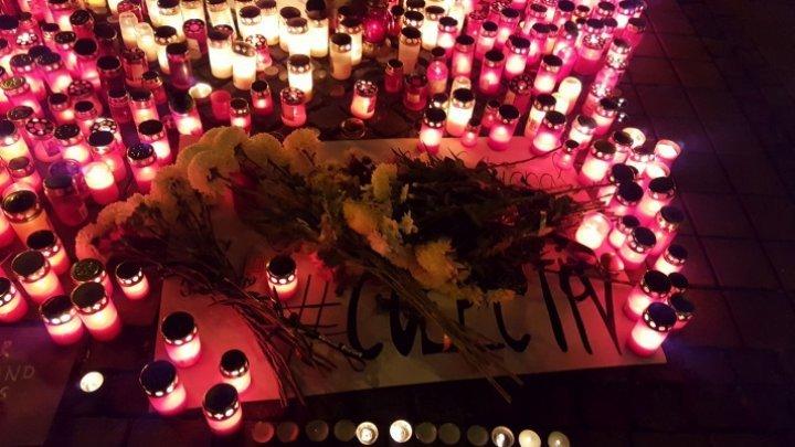 В Бухаресте прошел марш в память о погибших при пожаре в клубе