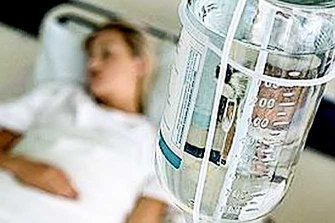 Заболевание начинается остро: Подъем температуры тела до 39-40 градусов