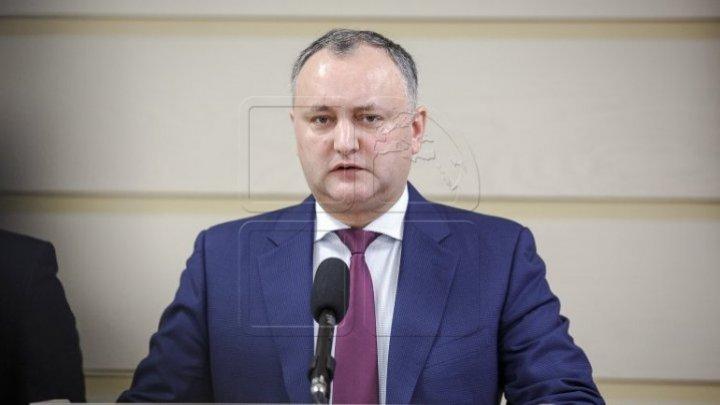 Игорь Додон прокомментировал решение Конституционного суда