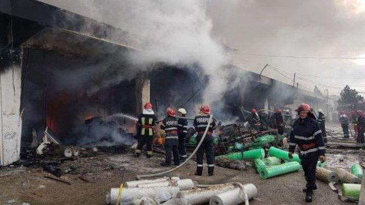 Пожар на складах в Румынии: город Васлуй покрылся дымом