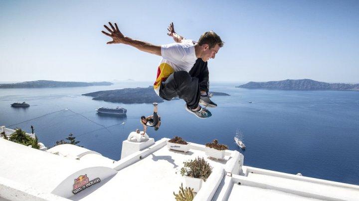 На греческом острове Санторини прошел турнир по паркуру