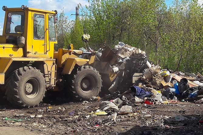 Ликвидация свалки на пересечении улиц Северной и Борковской