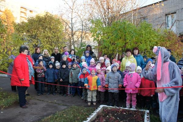 В Кирово-Чепецком центре социального обслуживания состоялось открытие детской спортплощадки