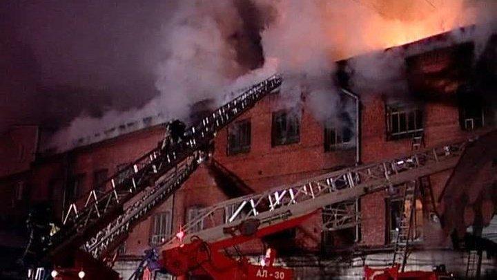 Пожар в колледже в Красноярске: почти 500 человек эвакуированы