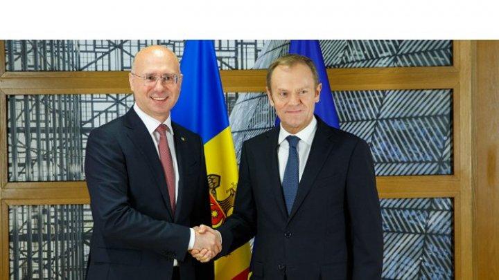 Премьер Павел Филип и председатель Европейского совета Дональд Туск обсудили реформу правительства