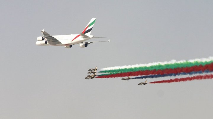Международный авиасалон Dubai Airshow 2017 открылся в ОАЭ