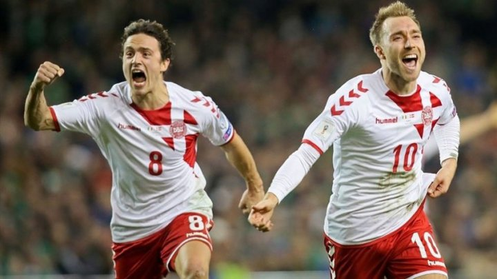 Сборная Дании разгромила команду Ирландии и вышла на чемпионат мира 2018