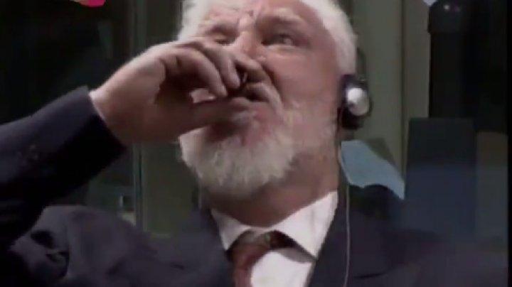 Боснийский генерал выпил яд на заседании трибунала в Гааге: видео