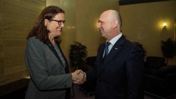 Еврокомиссар по торговле Сесилия Мальмстрем встретилась с премьер-министром Павлом Филипом