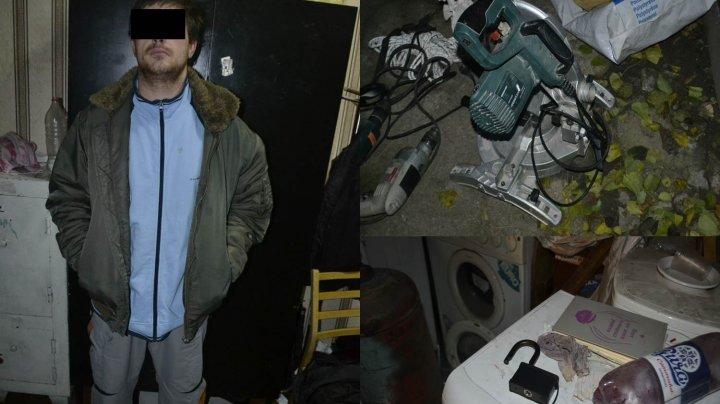В Кишиневе задержали 30-летнего мужчину за кражу из автомобиля и гаража