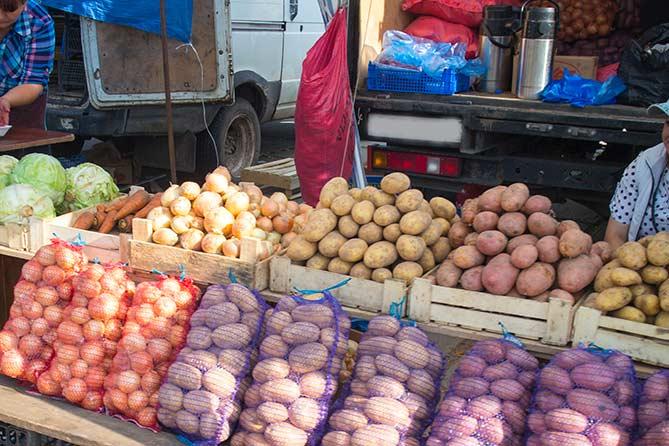 Как мы на ярмарке картошку покупали