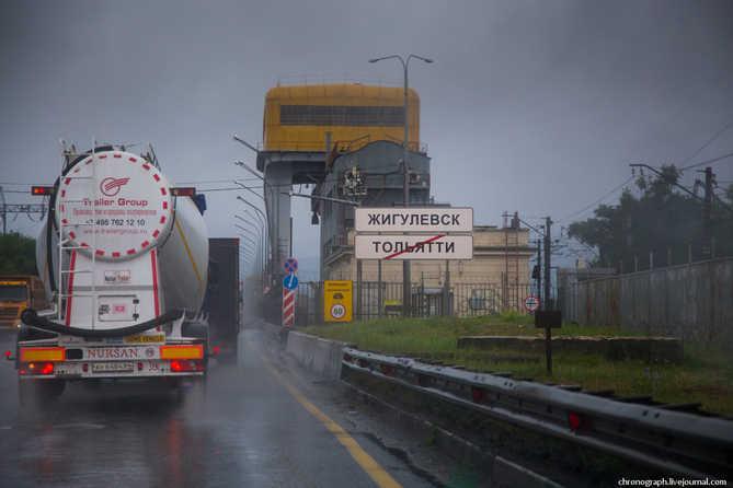Дорога через ГЭС и трехуровневая развязка на М-5