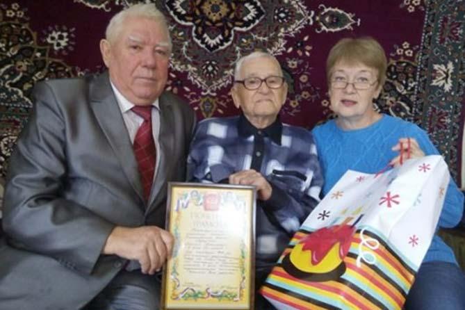 Фронтовику из села Хрящёвка исполнилось 99 лет