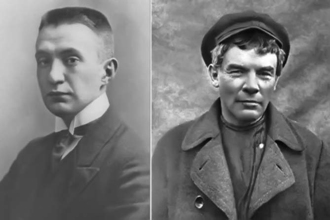 100-летие революции: Ленин и Керенский
