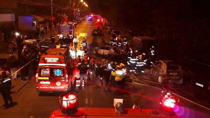 В Бухаресте произошло крупное ДТП с участием шести машин: один человек погиб