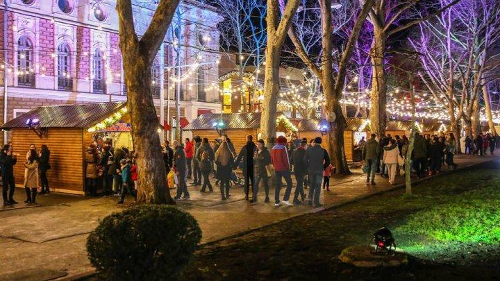 На рождественской ярмарке в Кишиневе в выходные было особенно людно