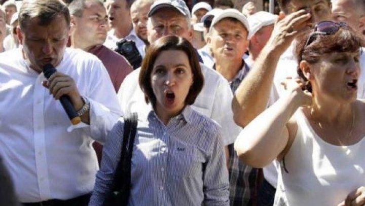 Сторонники Майи Санду и Илана Шора одновременно устроили манифестации у здания суда