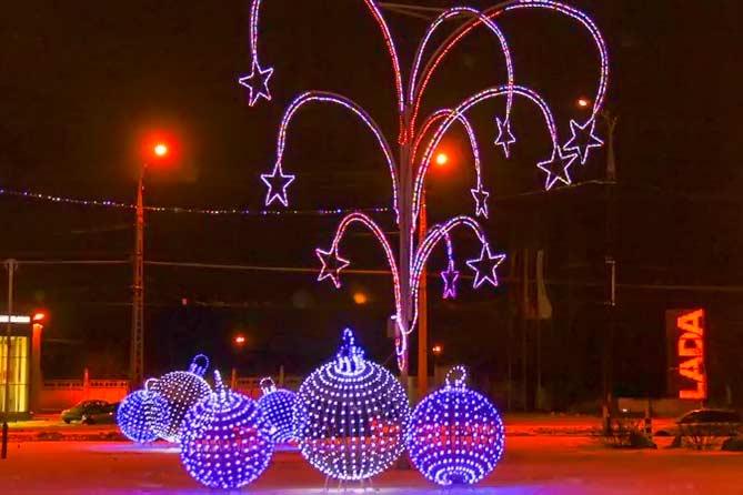 13-12-2017: Как украшают Тольятти к Новому 2018 году