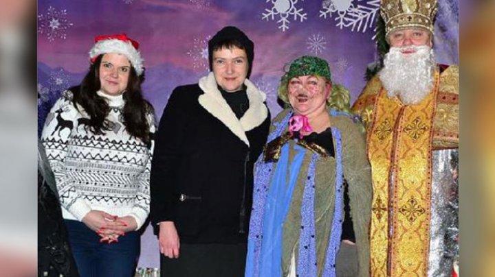В Сети высмеяли фото Савченко на детском новогоднем утреннике
