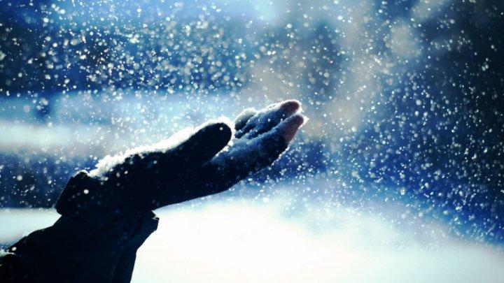 Американец не смог скрыть радости по поводу снега