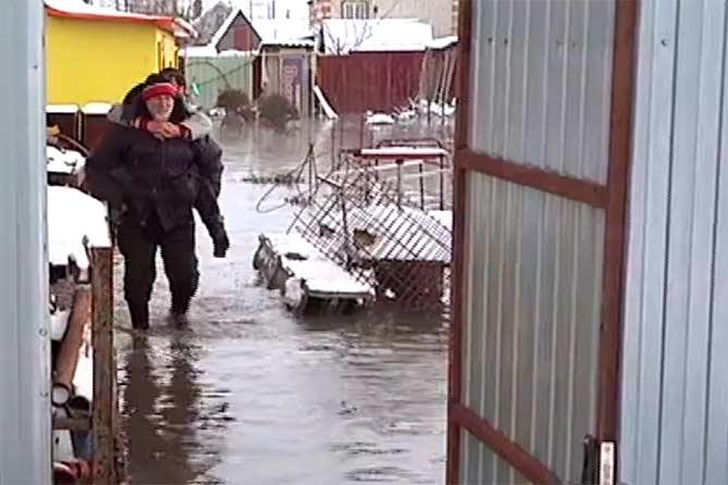 Несколько домов села Русская Борковка затопило канализационными стоками