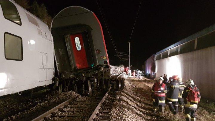 Появилось видео с места столкновения поездов в Австрии