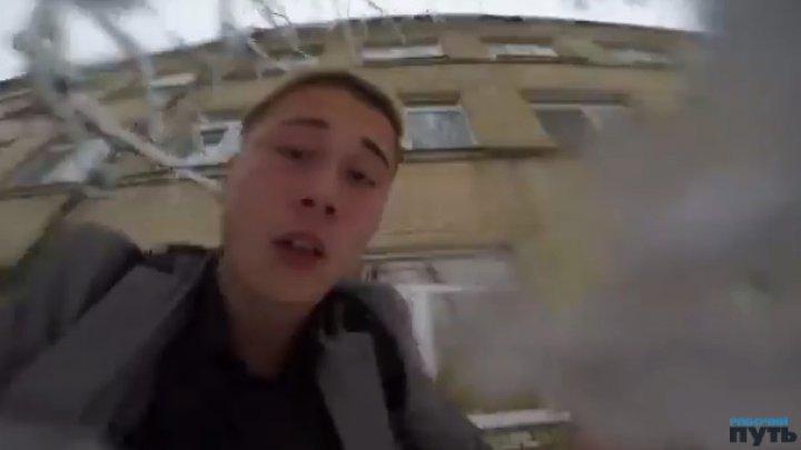 В Смоленске подросток снял на видео свой прыжок из школьного окна (18+)