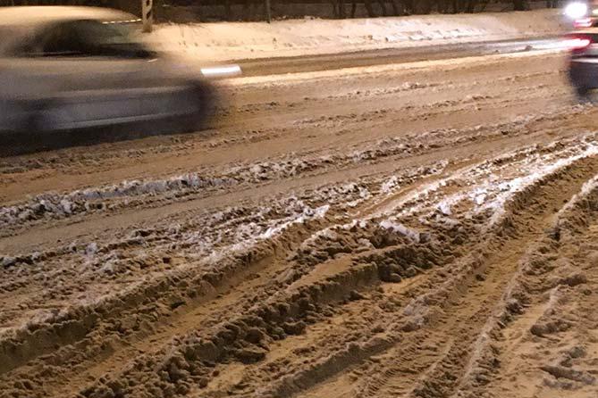 Неожиданно зимой в Тольятти выпал снег