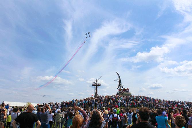 Авиационное шоу в Тольятти 9 мая 2018 года