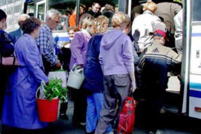 Переносится остановка дачных автобусов