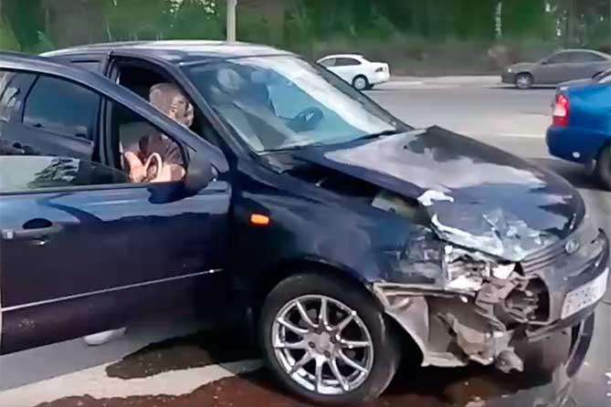 ДТП 17 мая 2018 года автомобиль Kalina
