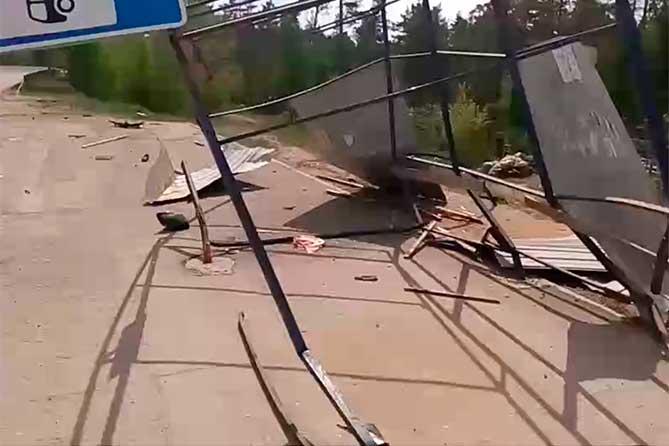 ДТП 17 мая 2018 года сломанный остановочный павильон