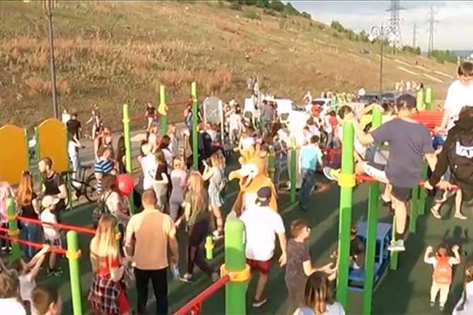 Открытие спортивной площадки: Дети были просто в восторге