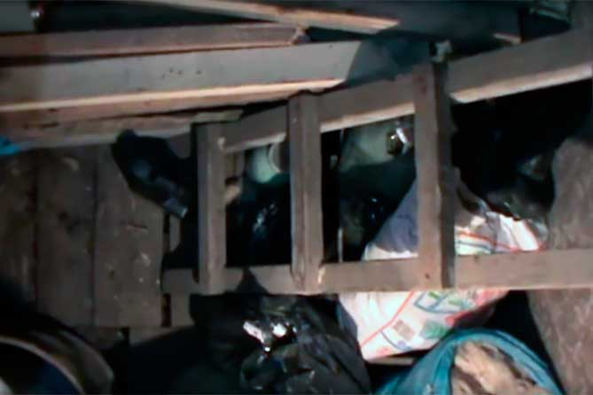 Тело мужчины было спрятано в погребе