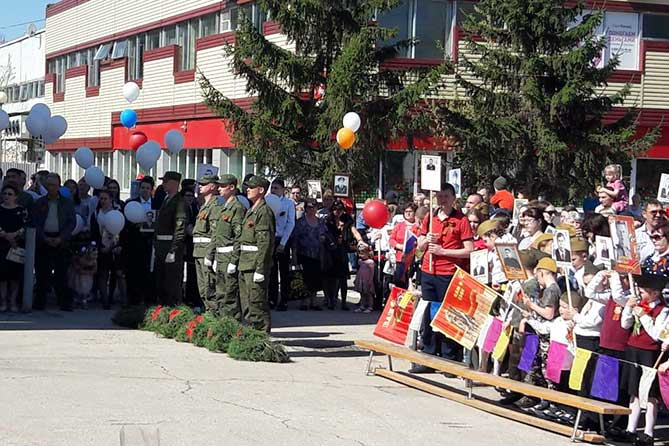 праздничный митинг в поволжском