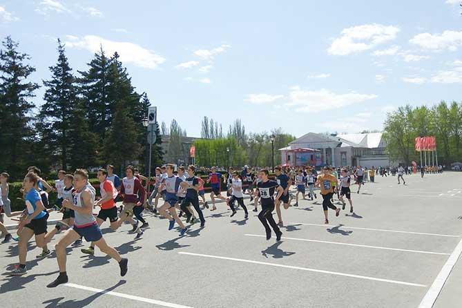 легкоатлетическая эстафета посвященная Дню Победы в ВОВ