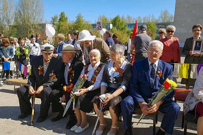 Празднование 73-й годовщины Победы в Поволжском