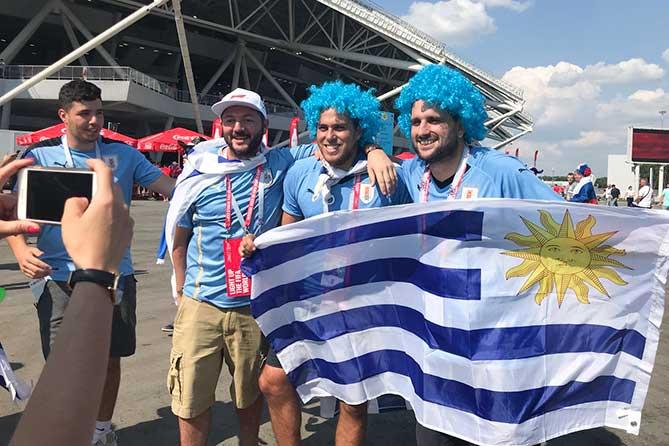уругвйские болельщики на ЧМ 2018 по футболу