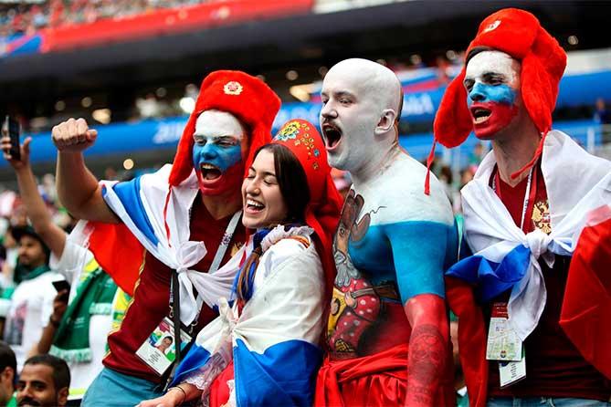 российские болельщики на Самаре Арене