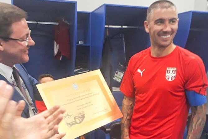 ЧМ-2018: Сербскому футболисту подарили автомобиль Lada