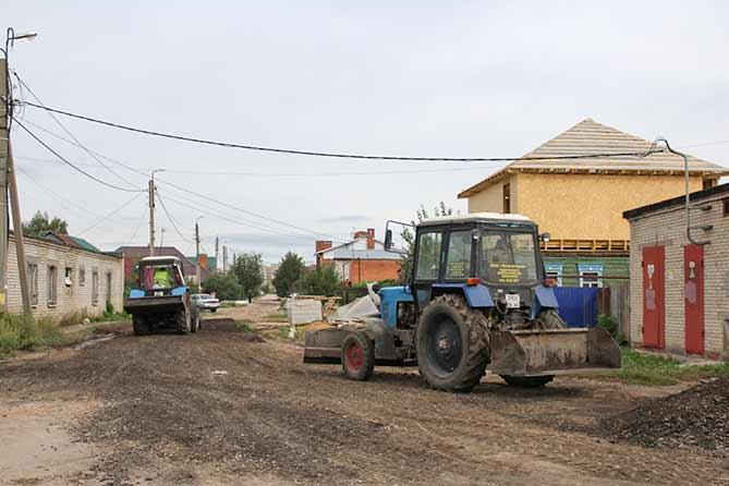 Ремонт дорог частного сектора Тольятти в 2018 году