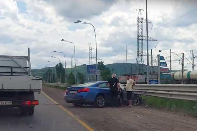 ДТП на ГЭС с участием четырех автомобилей