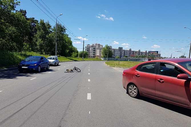 ДТП 21 июня 2018 года велосипед лежит на дороге