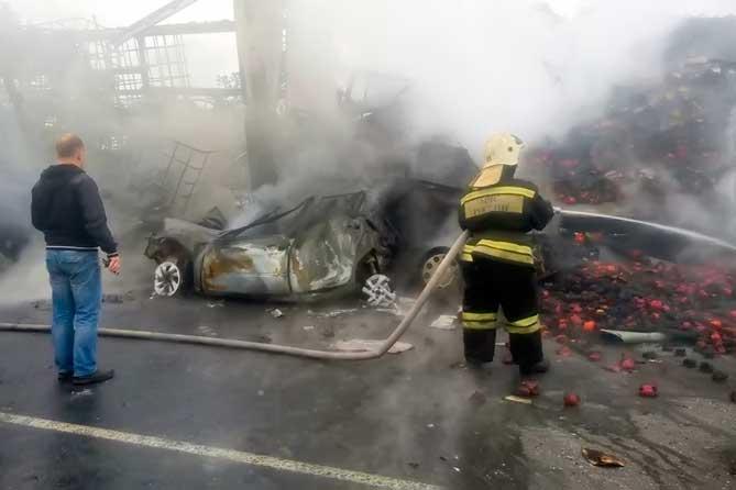 В аварии на трассе М-5 сгорела молодая семейная пара
