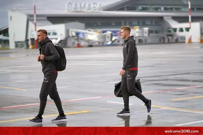 Футболисты Швейцарии прибыли в Тольятти