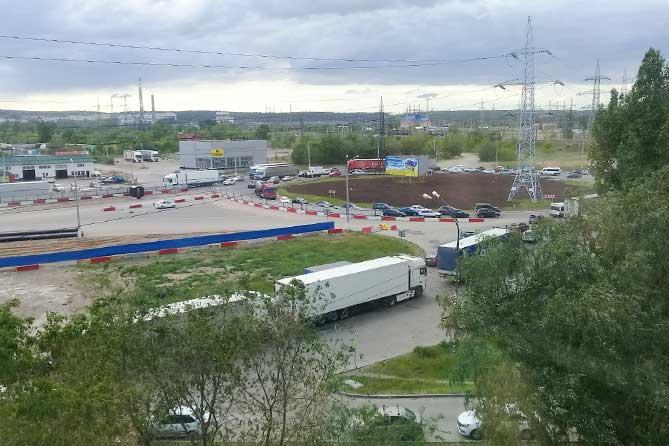 Пробка на М-5: Запрещён левый поворот с трассы М-5 на улицу Громовой