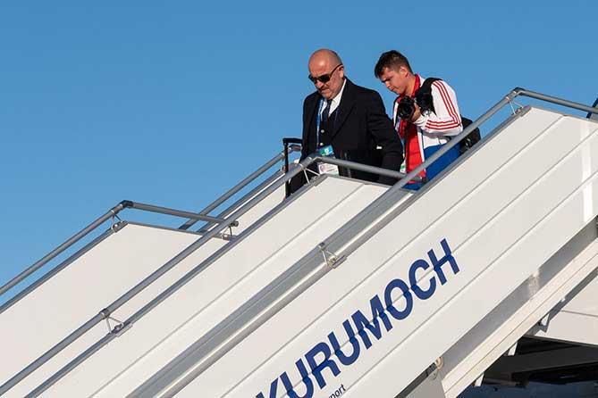 Сборная России по футболу прибыла в Курумоч