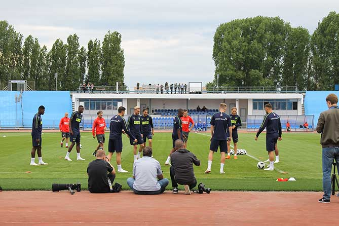 Сборная Швейцарии провела открытую тренировку в Тольятти